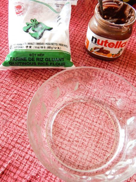 recette mochi nutella ingrédients 450x600 - Recette #3 : Les Mochis au Nutella, la recette simple, rapide et délicieuse !