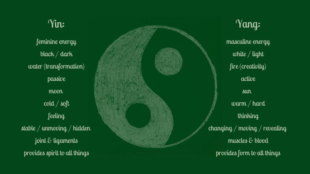Yin Yang qualities