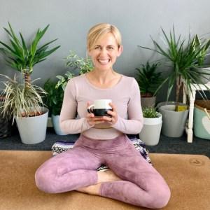Paula Roberts Happy Yoga Wales in Namaste Mudra