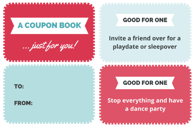 Free Printable Coupon Book for Kids