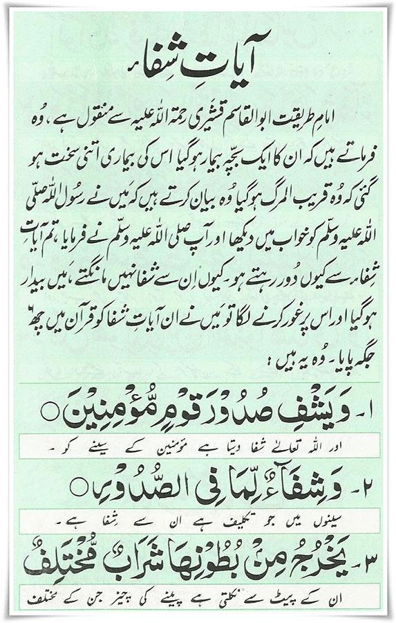 Ayaat-e-shifaa