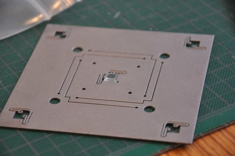 I designed this flexure plate as a component in the POE to hold a tardigrade biome planar to the optical sensor.