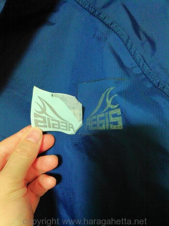 アイロンプリントにロゴがくっついて剥がれてきた