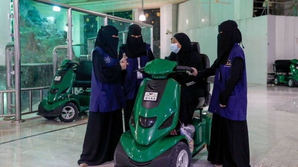 1,500 Saudi women serving pilgrims at Two Holy Mosques