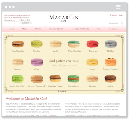 Macaron Cafe Flavor Picker and Shipping Factory
