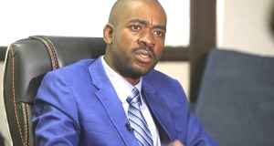 The MDC-Alliance leader Nelson Chamisa