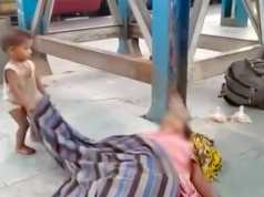 Toddler tries to wake up dead mother