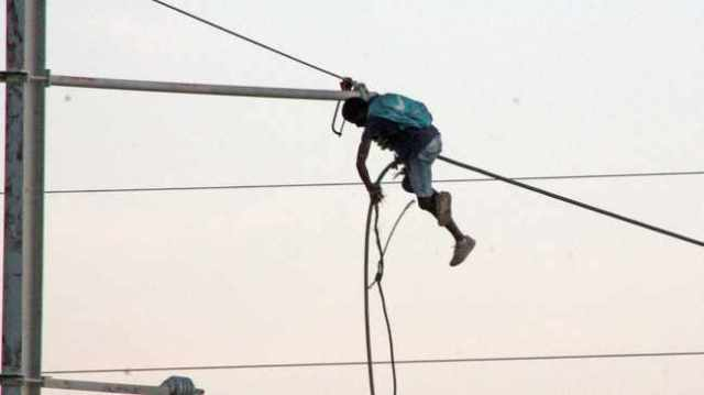 An alleged cable thief who tampered with railway power lines was electrocuted and burnt beyond recognition. Picture: Lalinka Mahote/African News Agency(ANA)