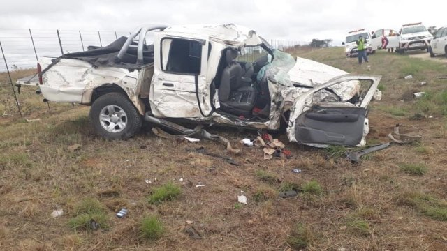 An accident scene on the R37 Burgersfort road after a high speed chase between cops and criminals went wrong.