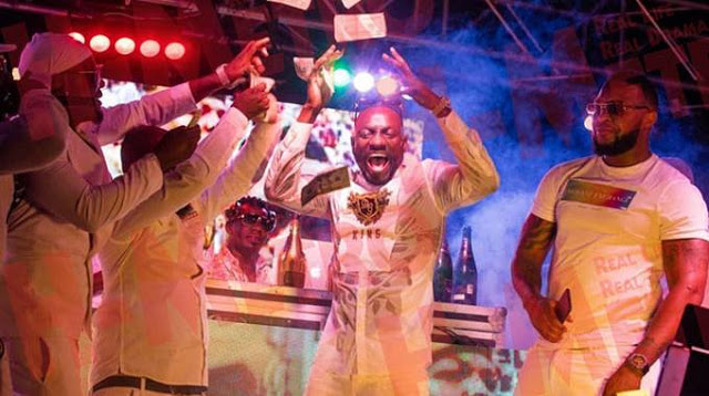 Ginimbi celebrates at an All White Party in Domboshawa. Zimbabweans are bracing for a bleak festive season after the government effectively banned Christmas parties due to Covid-19. File photo.