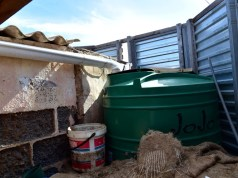A water tank similar to the one pictured, fell on the 12-year-old in the tragic incident. Image: Eugene Coetzee