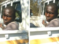 Lucky Ncube, the suspect who allegedly sli-t a girl's throat in Lupane