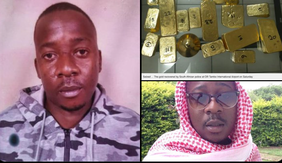 Tashinga Nyasha Masinire (33), was arrested on arrival in South Africa, after being caught carrying the gold at OR Tambo International Airport in Johannesburg
