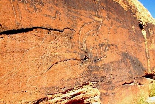 Dessins rupestres El Guicha