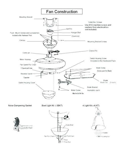 Ceiling Fan Diagram Parts