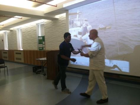 Cecilio recieving the Activist Award