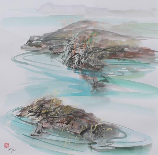 'Pembrokeshire seascape' Wendy Yeo
