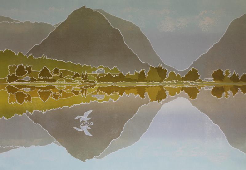 Autumn Reflections Grassmere, Cumbria