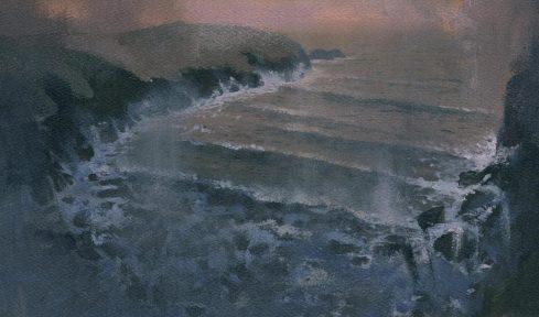 Simon Jones - Sunset storm near Porthgain