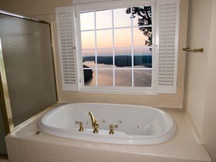Master bathroom view of Lake Lanier