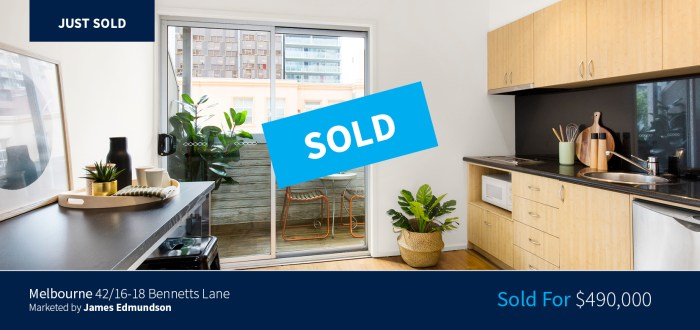 42/16-18 Bennetts Lane. Melbourne sold for $490,000 - Harcourts Melbourne City