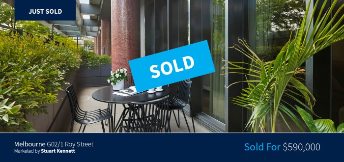 G02/1 Roy Street, Melbourne - Sold for $590,000