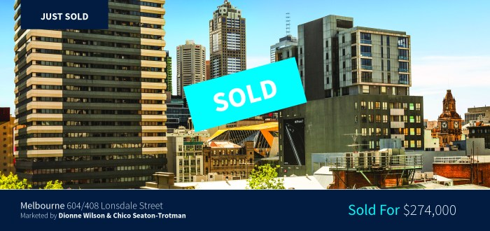 604/408 Lonsdale Street - Sold for $274,000 - Harcourts Melbourne City