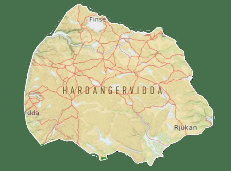 Kart hardangervidda