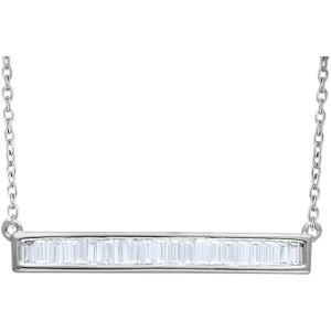 Diamond Baguette Horizontal Bar