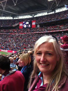 Okay, okay, this is Wembley, but I couldn't find a picture of me at Upton Park
