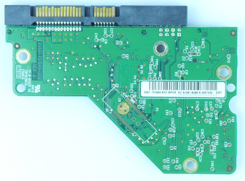 PCB WD5000AAKS-75V0A0 2061-701640-K02 05PD5 500GB Western