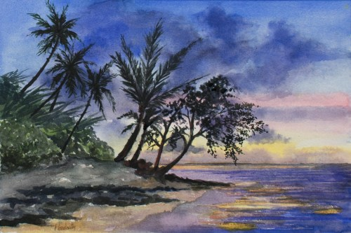 Seascape, by David Hardesty, watercolor