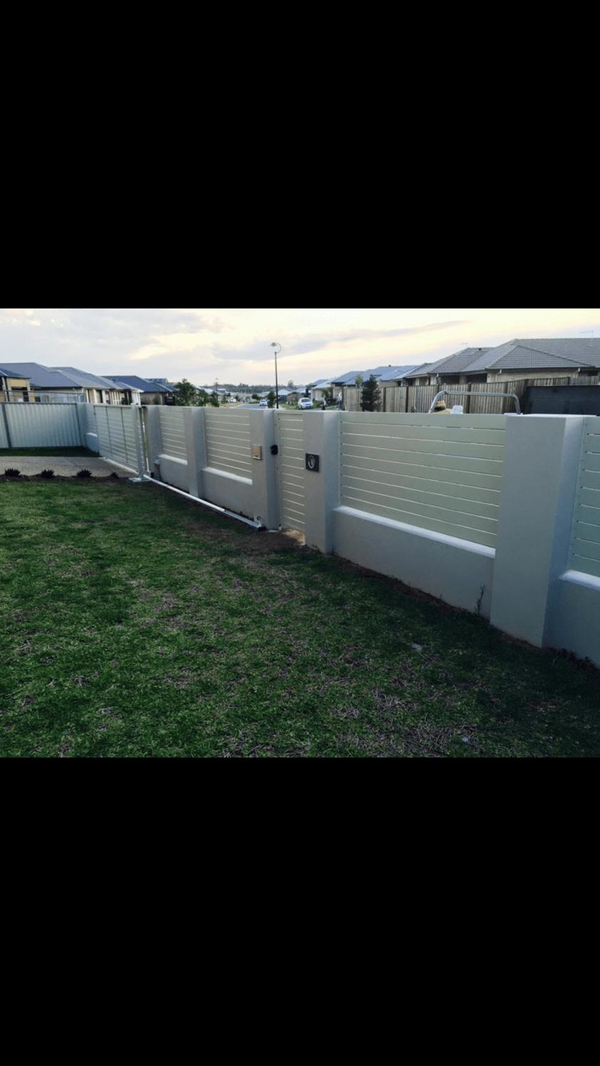 White Aluminium Fencing