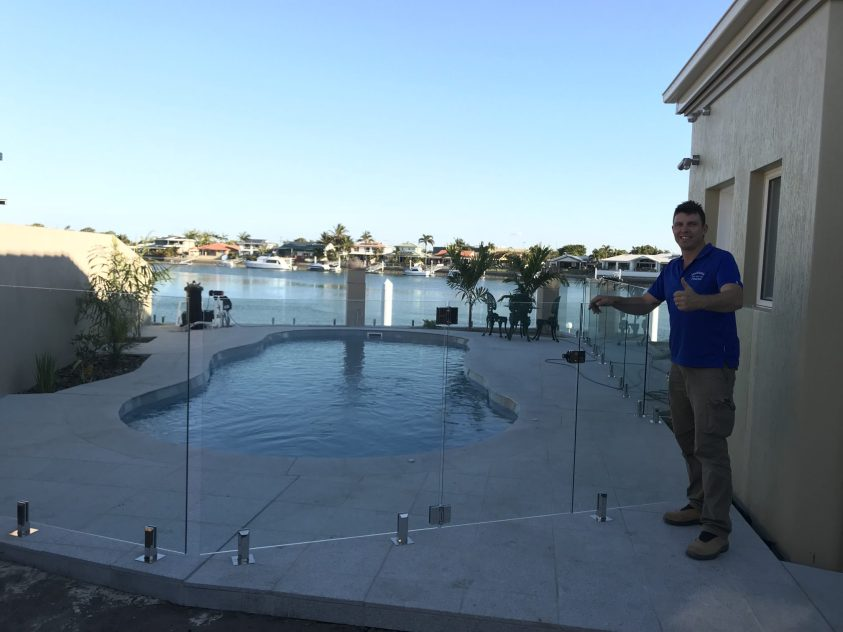 Fully Frameless Glass Pool Fence