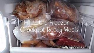 6 easy freezer Crockpot Meals