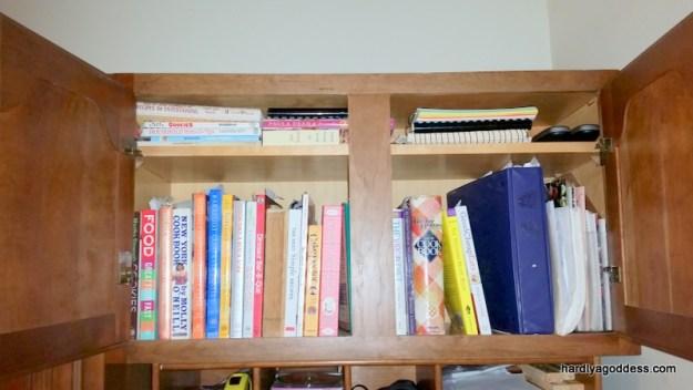 bookshelf organized