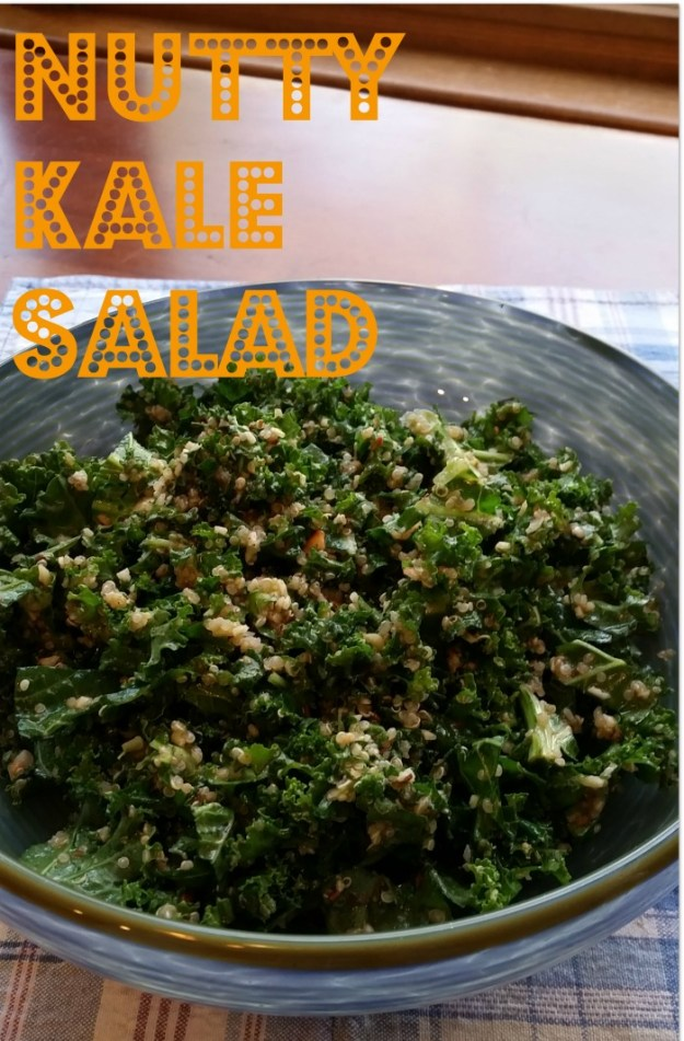 nutty kale salad