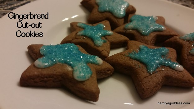 12 Days of Christmas Cookies, Day 8: Gingerbread Cut-Outs