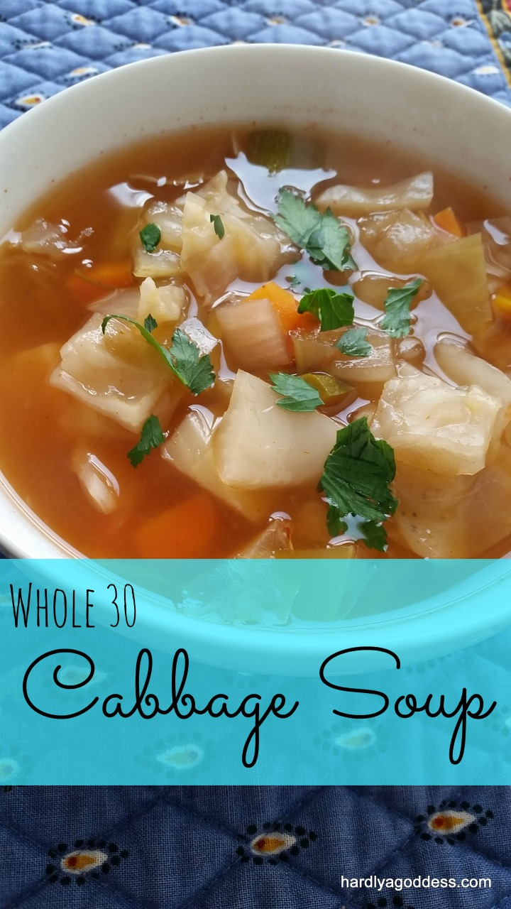Clean Comfort Food: Vegetarian Cabbage Soup | Hardly A Goddess