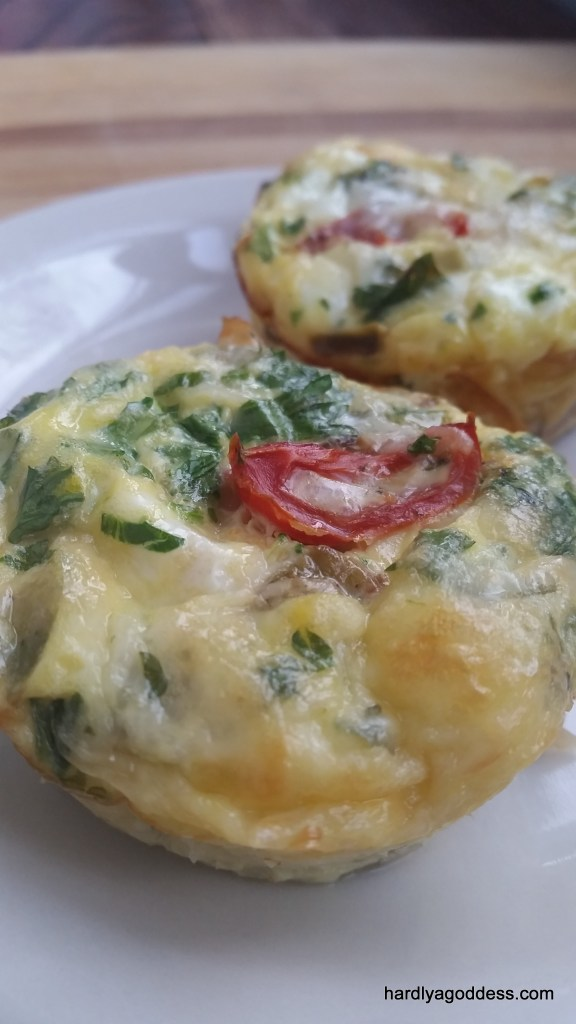 Easy & Healthy Make Ahead & Freeze Omelette Cups | Hardly A Goddess