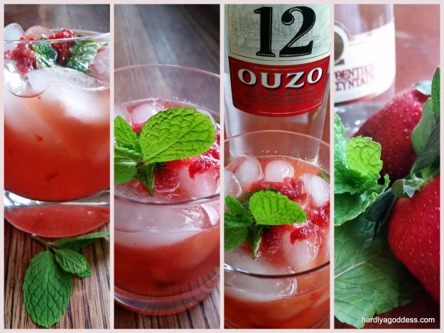 Strawberry, Mint, Ouzo: The Ouzito | Hardly A Goddess