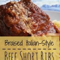 Braised Italian-Style Beef Short Ribs #SundaySupper