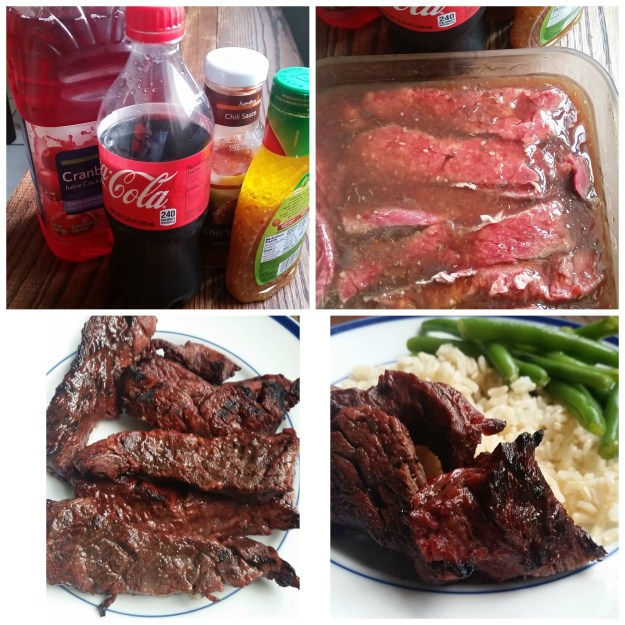 Cola Marinated Steak Tips | Hardly A Goddess