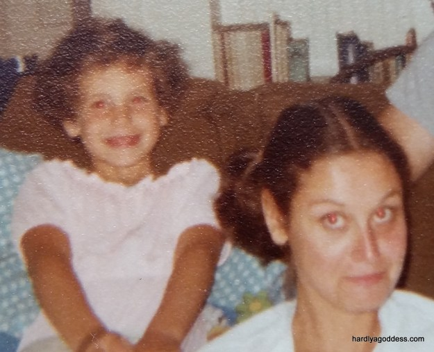 My mom and me~ Circa. a super long time ago!