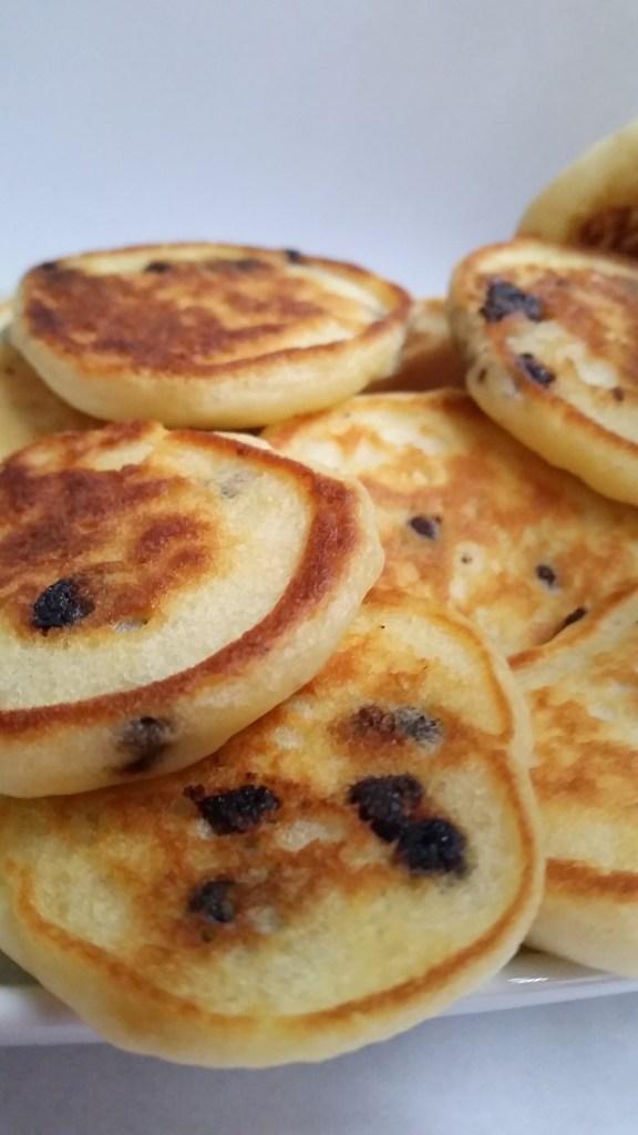 silver dollar chocolate chip pancakes