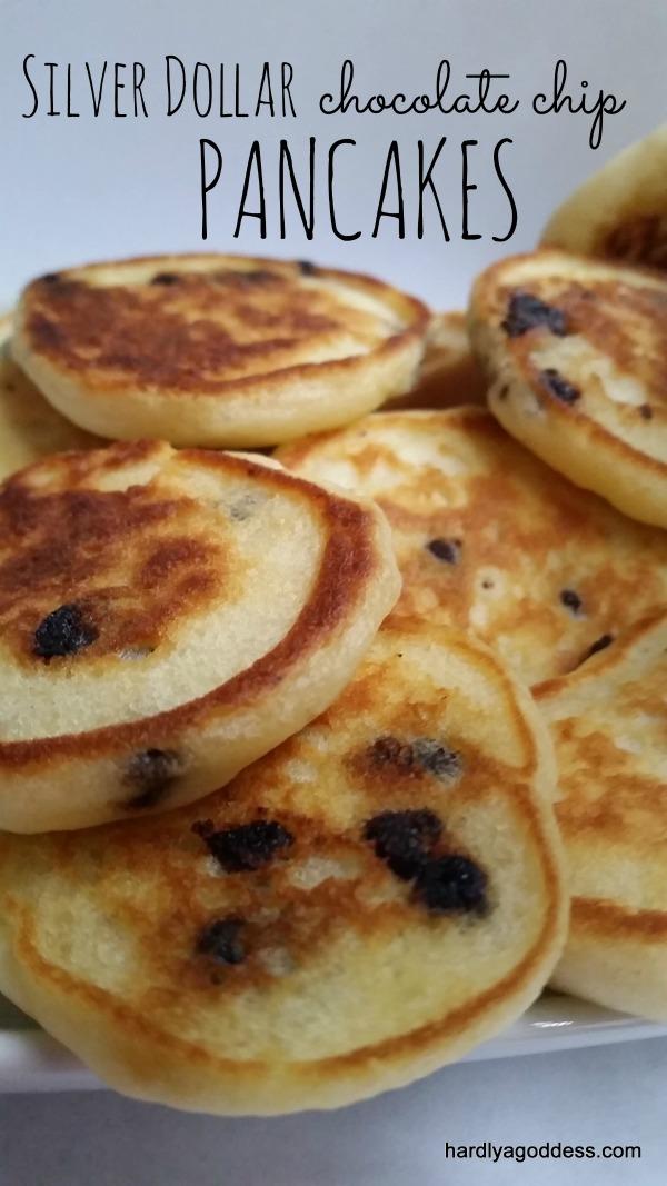Silver Dollar Chocolate Chip Pancakes #FoodieExtravaganza