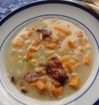 Sweet Potato Corn Chowder #SoupSwappers