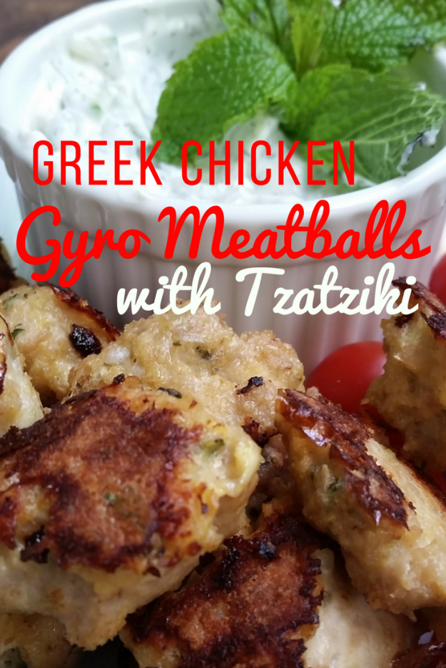 Greek Chicken Gyro meatballs