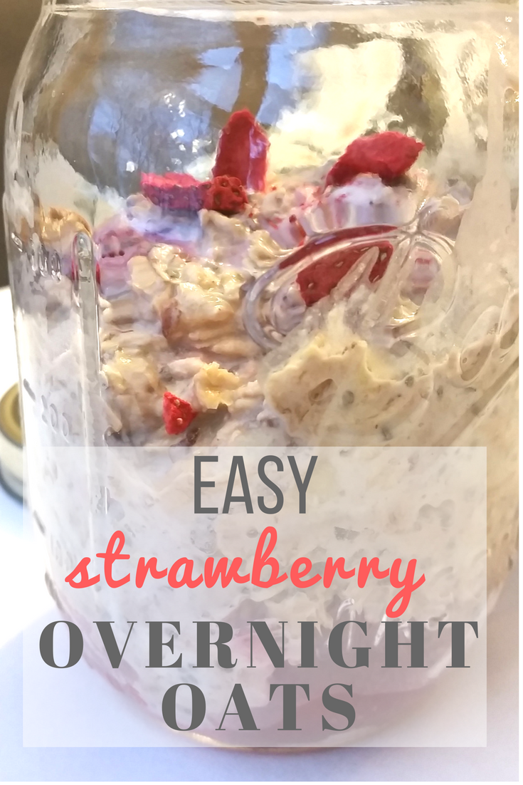 Easy Strawberry Overnight Oats