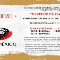 ELENCO Plaza México Temporada Grande 2016-2017, Derecho de Apartado.